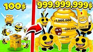 ЭТИ Пчёлы Собрали Весь МЁД В МИРЕ ЗА 5 Минут! ОТ НУБА ДО ПРО ЗА 5 МИНУТ! СИМУЛЯТОР ПЧЕЛЫ ROBLOX
