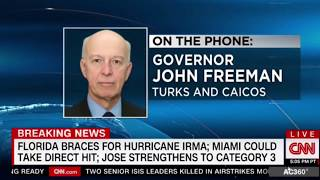 """Governor of Turks Caicos John Freeman """" quite a deal of preparation by the people """" Hurricane Irma"""