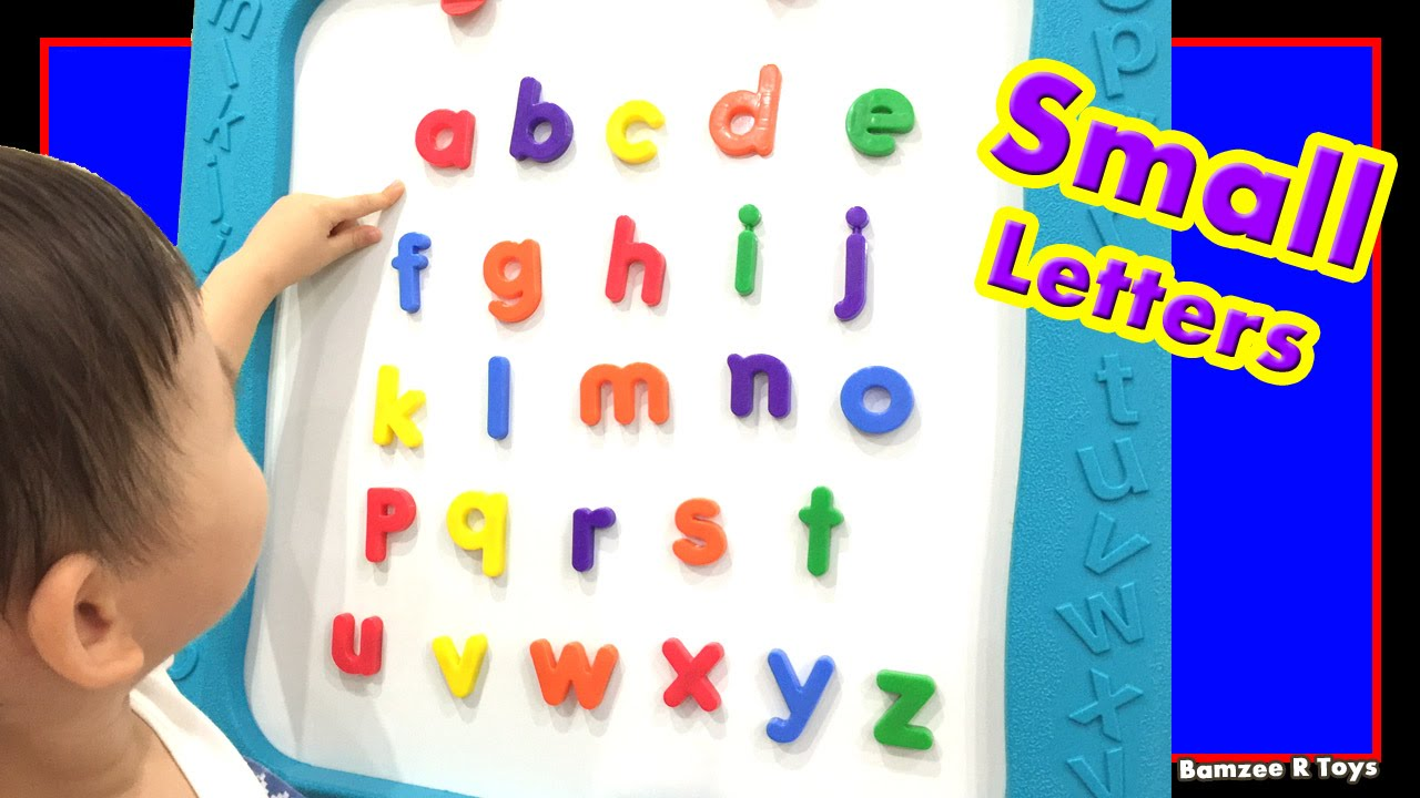 Worksheet Alphabetical Letters abc alphabet toddlers kids learn small letters a to z for preschool kindergarten bamzee r toys
