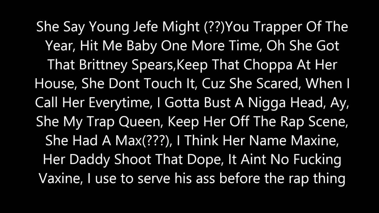 Shy glizzy trap queen lyrics ft fetty wap youtube