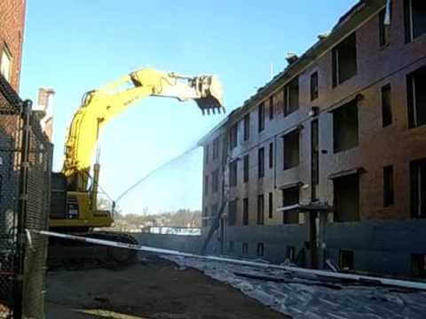Washington Beech demolition in Roslindale, Mass.