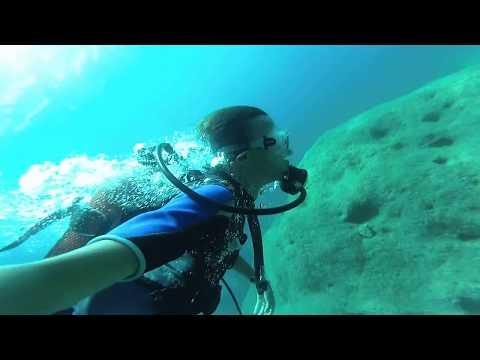 Diving in the Mediterranean Sea, Alanya