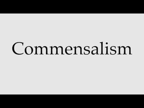 How to Pronounce Commensalism