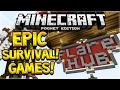 EPIC HUNGERGAMES SERVER! Minecraft Pocket Edition Survival Games Server (Pocket Edition)
