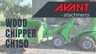 Wood chipper CH150 heavy duty, Avant 300-700 Series attachment Thumbnail