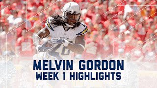 Melvin Gordon Highlights | Chargers vs. Chiefs | NFL Week 1 Player Highlights