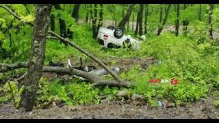 На Русском острове погиб водитель перевернувшейся машины AndquotХонда Одиссейandquot