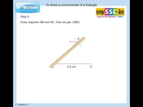To draw circumcircle of a triangle - Animation by mySSC.in