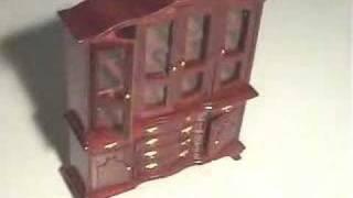 Dollhouse Furniture Mahogany Dining Room Set