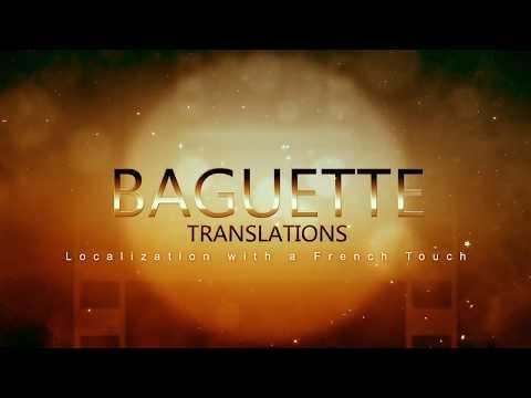OFFERT PAR BAGUETTE TRANSLATIONS (voir description)