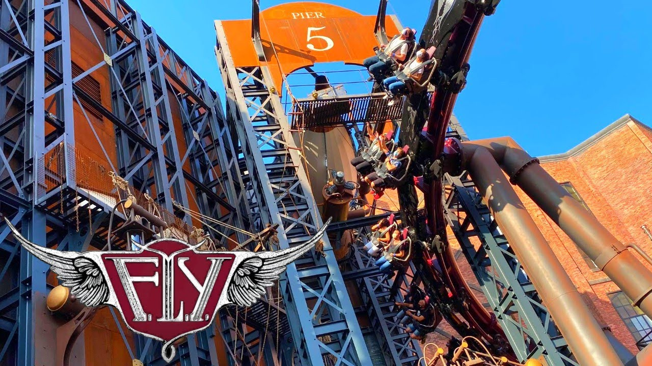 F.L.Y. & Rookburgh - Phantasialand | Launched Flying Roller Coaster!