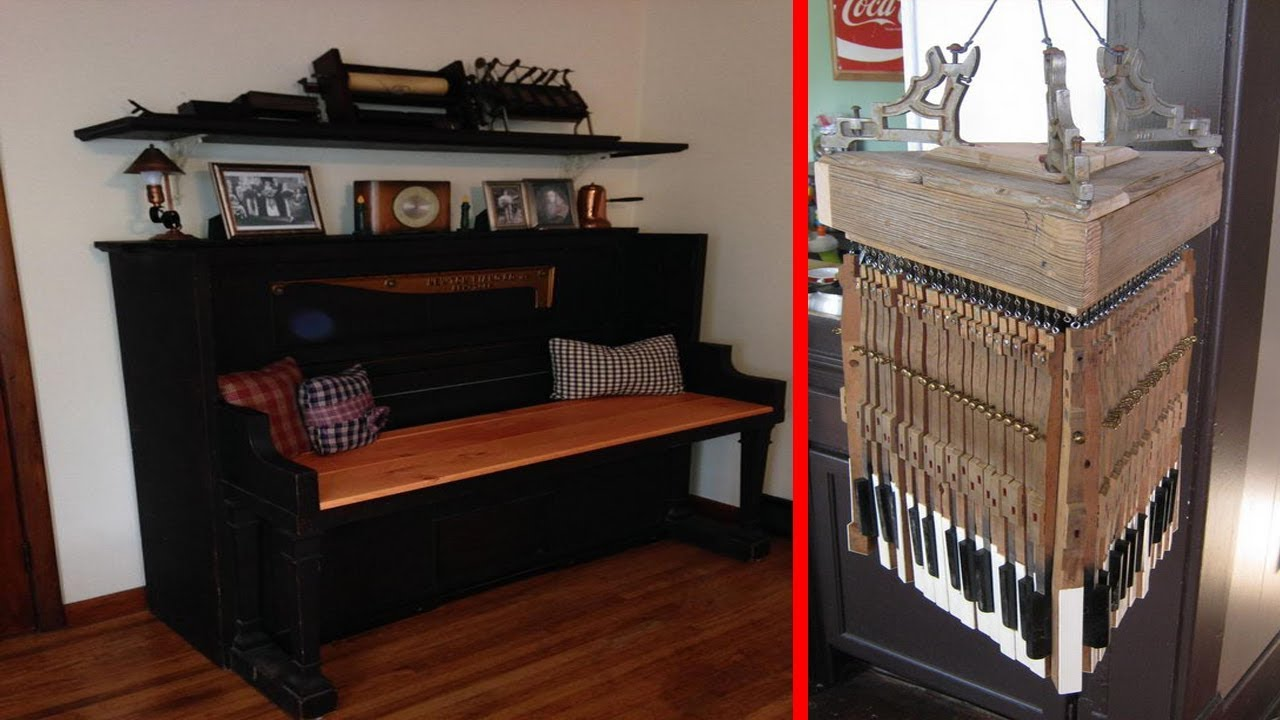 30+ Creative Ideas How To Reuse Old Things | Recycled Home Decor Ideas | Old  Piano Repurposing