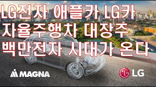 LG전자 백만전자 애플카 LG카 자율주행차 대장주