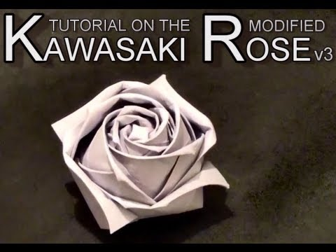Papercraft Conrad's Modified Kawasaki Origami Paper Rose - Tutorial v3.