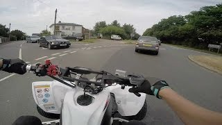 128 - Oil Leak At 60mph Yamaha Yfz450R Road Legal Quad Bike Atv England Country Lanes