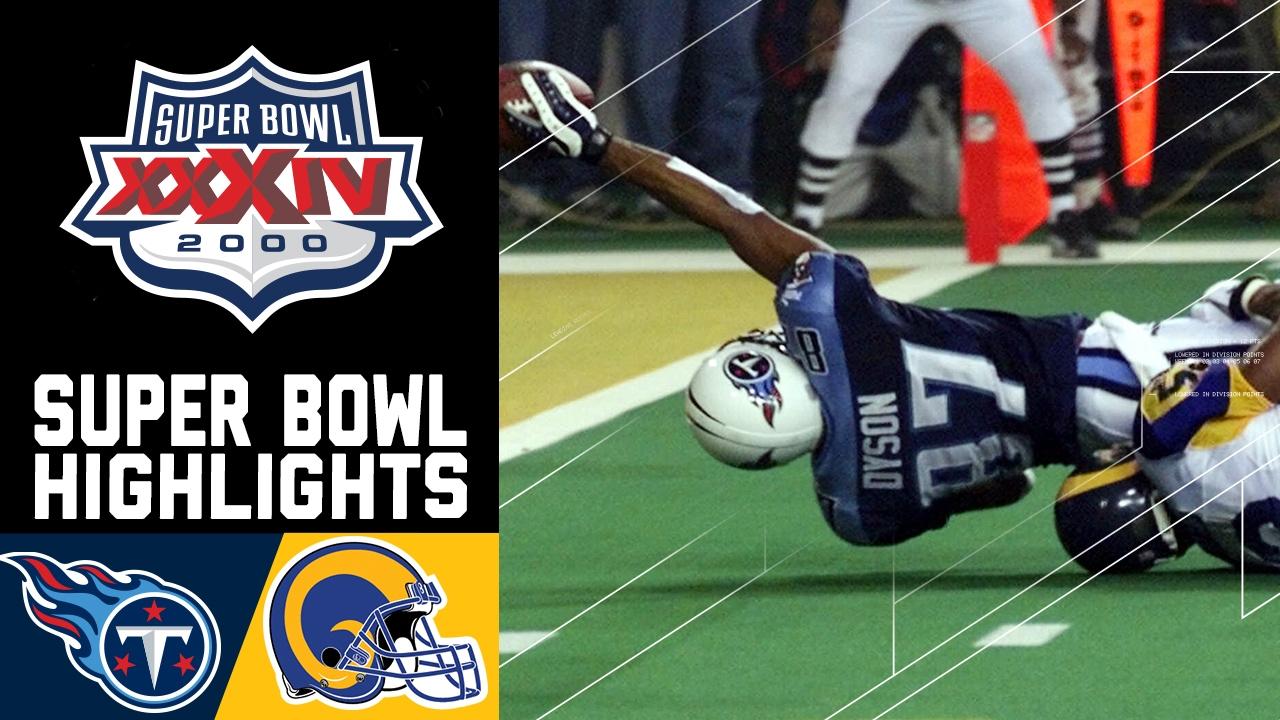Super Bowl XXXIV Recap  Rams vs. Titans  ac86c9474