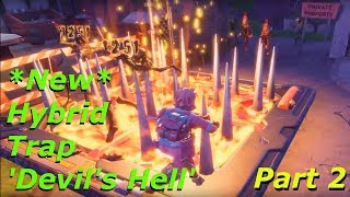 Fortnite - *New* Hybrid Trap 'Devil's Hell' | Hybrid Double Trap Glitch Testing - Part 2