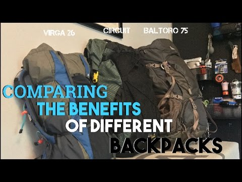 backpacking gear compared gregory baltero 75 ula circuit