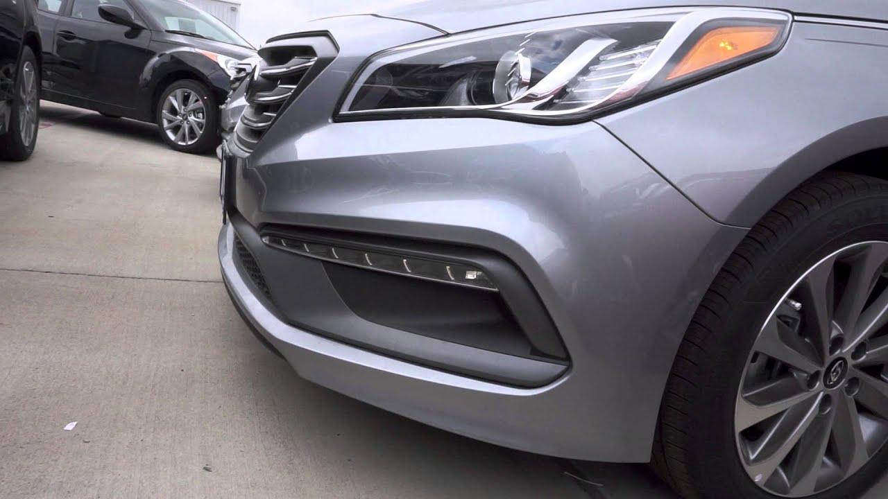 2016 Hyundai Sonata S Led Daytime Running Lights Youtube