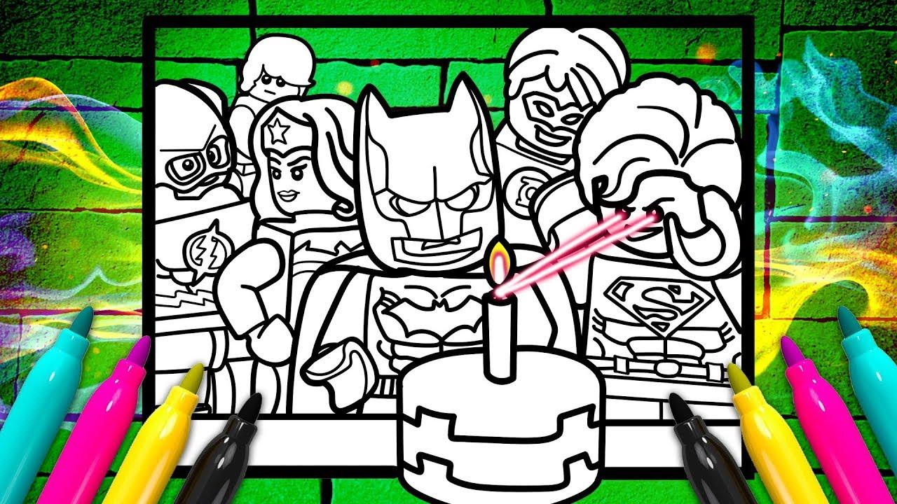 LEGO BATMAN Birthday Coloring page DC ics Justice