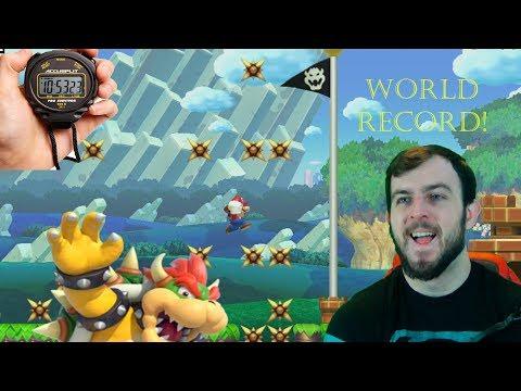 Super Mario Maker World Record Run - Attempt #2
