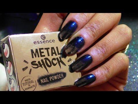 Metal shock nail powder essence / Pudra metalica pentru unghii /Silver and blue nail powder