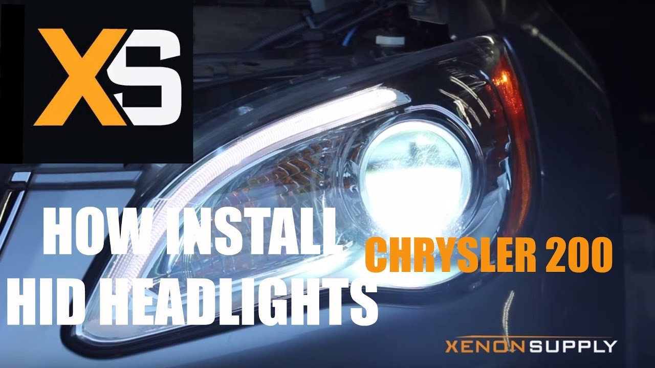xs chrysler 200 hid how to install hid xenon 2013 youtubexs chrysler 200 hid how to install hid xenon 2013