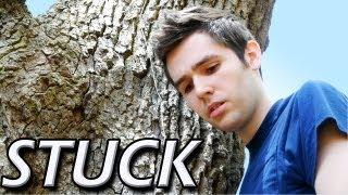 GUY STUCK IN TREE!