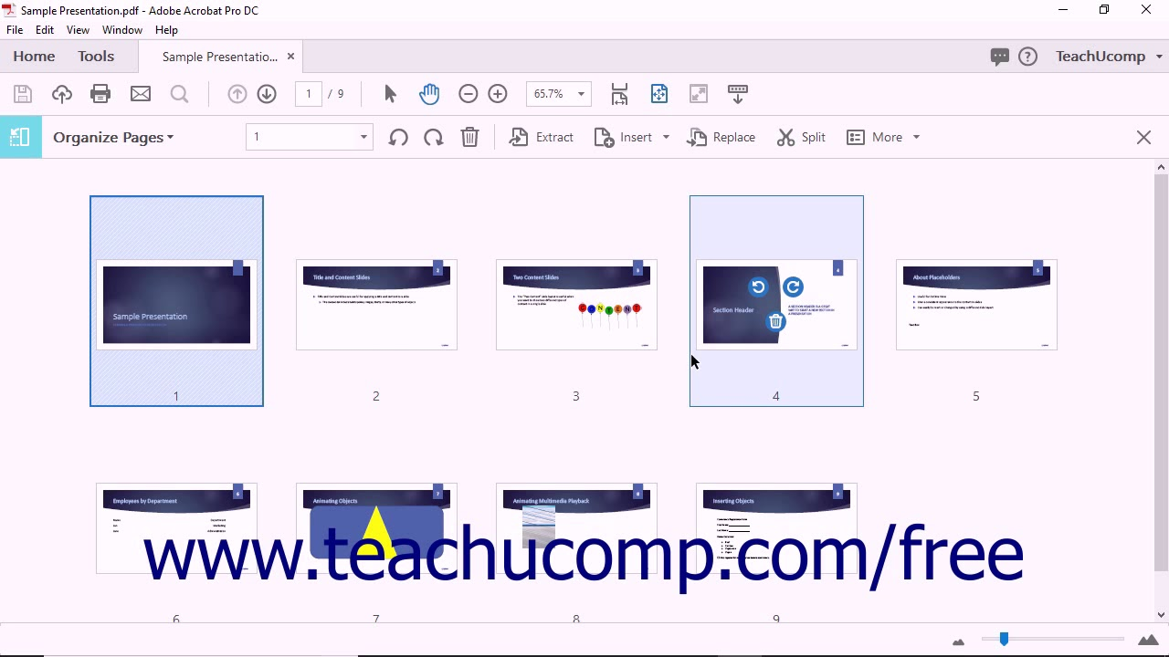 Add Pages to a PDF using Acrobat Pro DC - Instructions