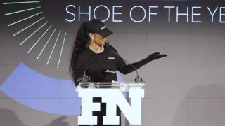 "Rihanna Accepts ""Shoe Of Year"" Award For Puma Fenty Creeper"