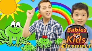The Little Green Frogs | Babies and Kids Channel | Nursery Rhymes for children and toddlers