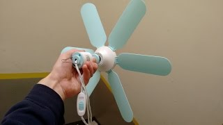 Mini ceiling fan with intriguing motor and wind turbine potential.