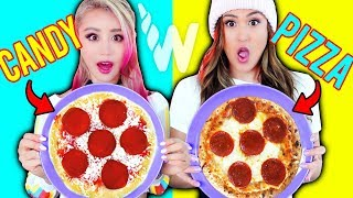 Making FOOD out of CANDY! DIY Edible Candy vs Real Food Challenge With LaurDIY!