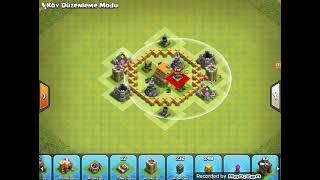 Clash Of Clans 6.Seviye Köy Binası Düzeni (Profesyonel)