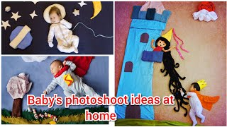 Baby's photoshoot ideas at home