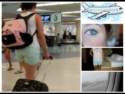 Airplane/Traveling Makeup, Hair & Outfit + My Carry On Essentials