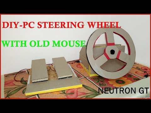 DIY STEERING WHEEL and PEDAL for PC