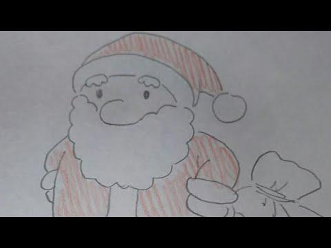 サンタクロース書き方クリスマスの絵 簡単おえかき Youtube