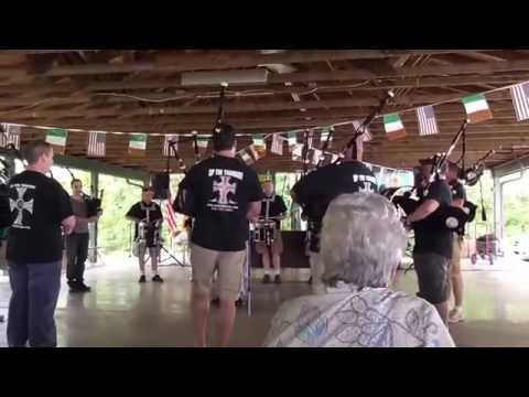 """Irish Thunder Pipes and Drums, June 8, 2014. ND Festival, """"Steam Train ..."""