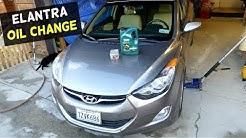 HOW TO CHANGE ENGINE OIL ON HYUNDAI ELANTRA 2011 2012 2013 2014 2015 2016