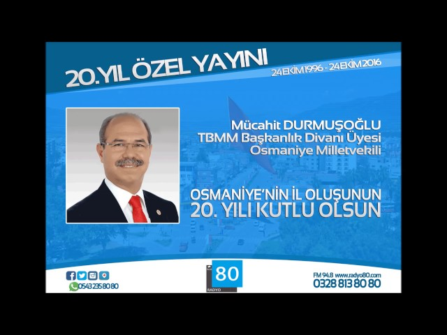 Milletvekilimiz Mücahit Durmuşoğlu: Osmaniye'mizi çok güzel günler bekliyor