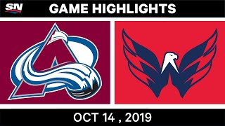 colorado Avalanche vs Washington Capitals  Oct.14, 2019  NHL 19/20 Game Highlights  Обзор матча