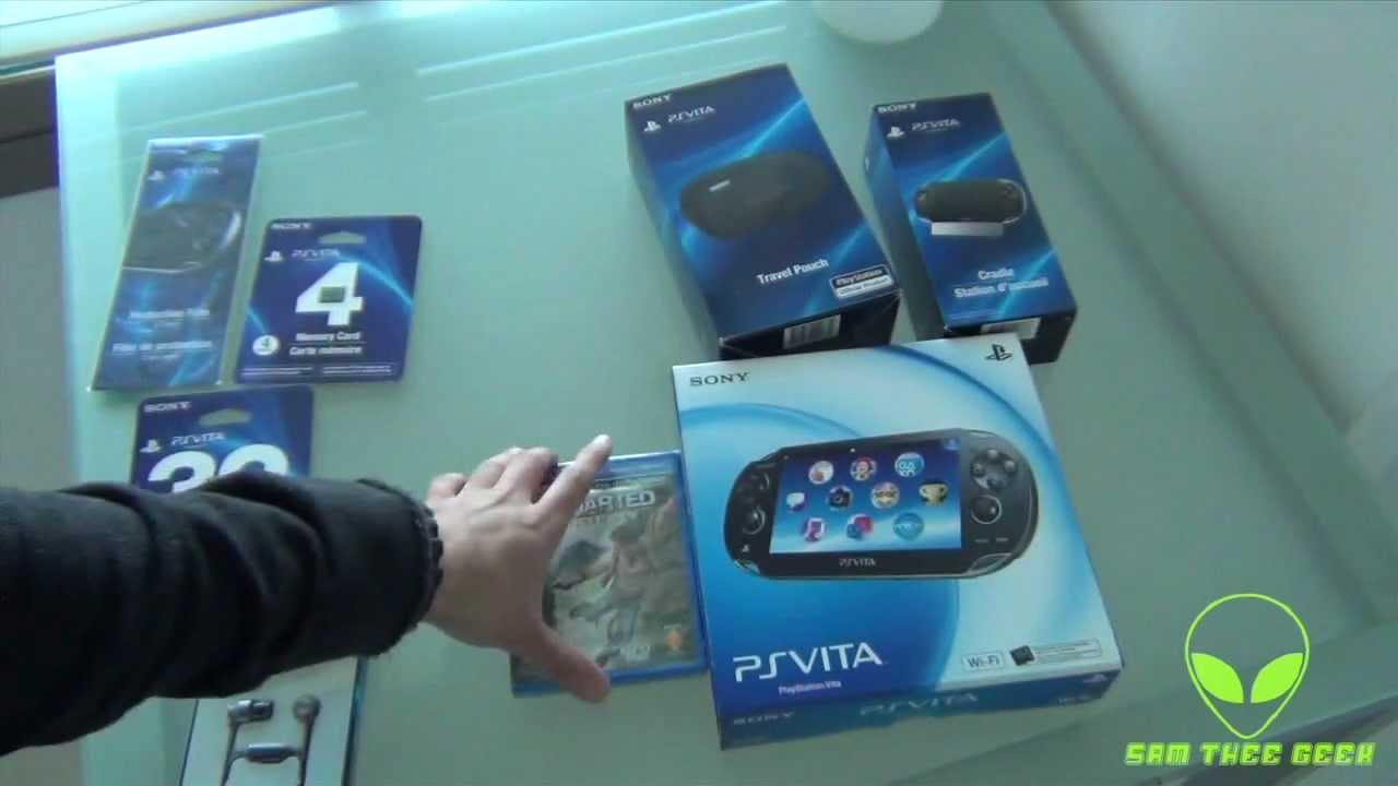 Sony Playstation Vita + Accessories Unboxing
