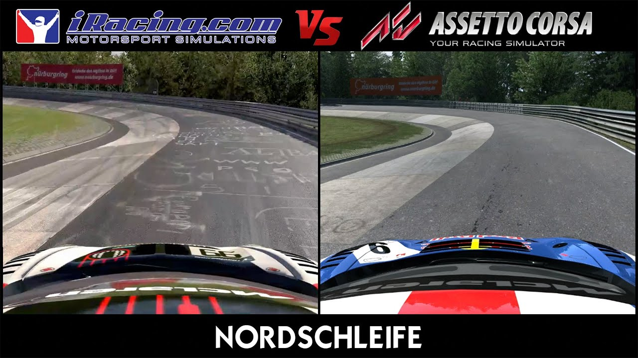 Barber Motorsports Park >> iRacing Vs Assetto Corsa @ Nordschleife - YouTube