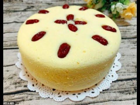 学会做蛋糕_1碗面粉,5个鸡蛋,做蛋糕不用烤箱不用电饭煲,新手一看就能 ...