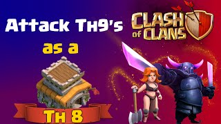 Clash of Clans | TH8 vs TH9 GoWiPe GoVaPe Attack Strategy in Clash of Clans