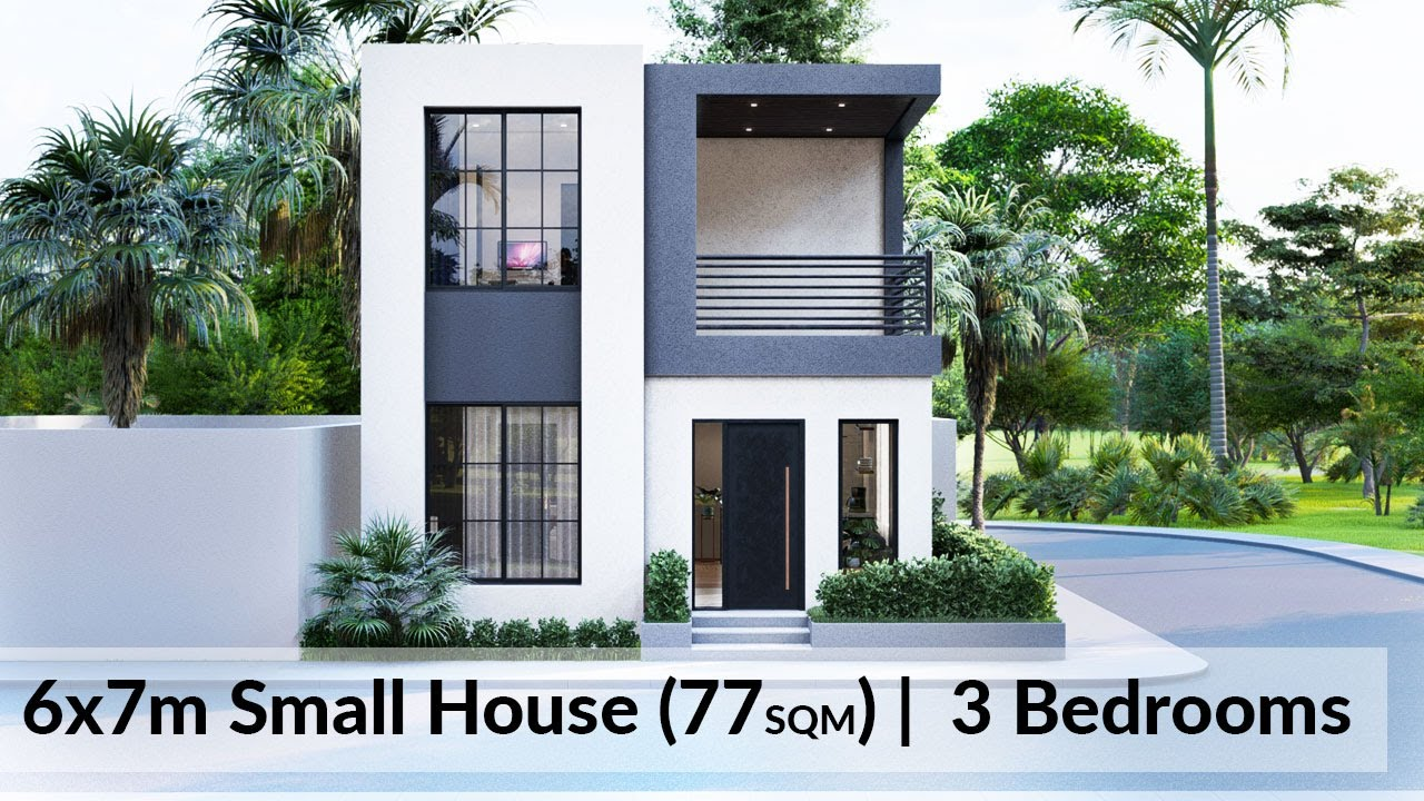 3x6 Meters Tiny House Design Small 1 Bedroom House Youtube