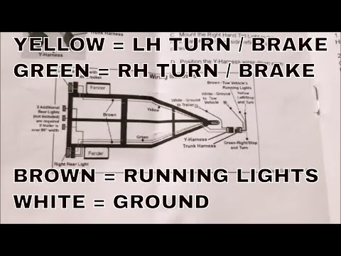 HOW TO REWIRE A TRAILER WITH LED LIGHTS : WITH WIRING DIAGRAM INCLUDED