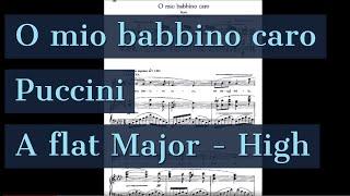 O Mio Babbino Caro Piano Accompaniment Karaoke Puccini A flat High Key