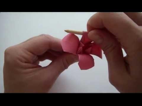 Поделки из бумаги  видео оригами цветы звери 31